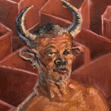Minotaur (Reginald), December 2020, oil on canvas, 24x36in.