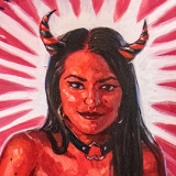 Succubus, 2021, oil on canvas, 23x32in