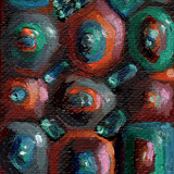 Stromatolites (Archean 5), oil on canvas, 2.5x3.5in