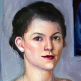 Portrait of the Artist, 2009, 23x42in