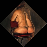 Back, oil on canvas, 30x30in