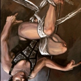The Distinction Between Good and Evil, Oils on linen, 23x42in, A series based on Ripa's 17th century Iconographia.