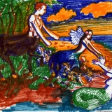1. Sarah moves from a centaur to a mermaid family
