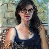 Kaethe, oils on canvas, 18x24in.