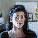 "Lauren, Oil on paper, 8x6in <a href=""http://bruesselbach.com/teleportraiture"">Teleportraiture</a>"