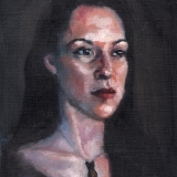 Melanie, teleportrait, 2012, oil on canvas, 8x10in