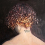 "<a href=""http://bruesselbach.com/?page_id=551"">selfie</a>, oil on canvas, 23x23in"