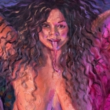 """Manananggal, 2021, 20x24in(2) diptych, <a href=""""http://bruesselbach.com/?page_id=1244"""">Beloved Monsters</a>"""